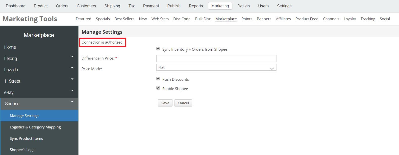Shopee Open Platform Setup (for New API) « eCommerce store